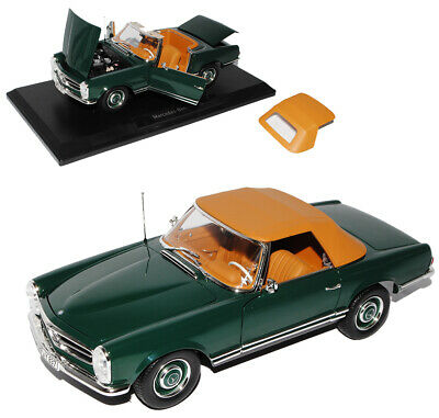 Mercedes-Benz 230SL Pagode Roadster Grün W113 1963-1971 1/18 Norev Modell Auto m