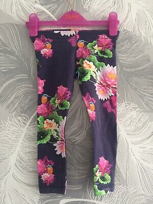 Ted Baker Hummingbird Floral Leggings Girl 2-3 Years Excellent Condition