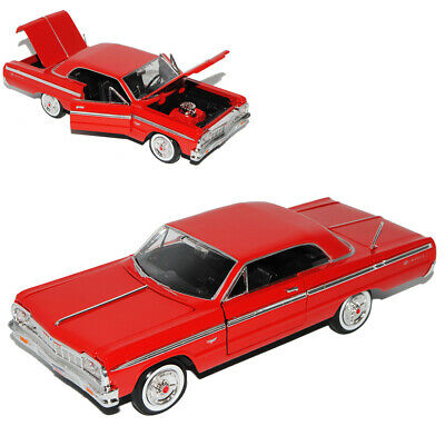 Chevrolet Impala SS Coupe Rot 1964 1//24 Motormax Modell Auto mit oder ohne indiv