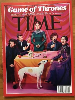 Rare TIME Magazine 2017, DOUBLE Issue GAME OF THRONES Story, Harrington, Clarke