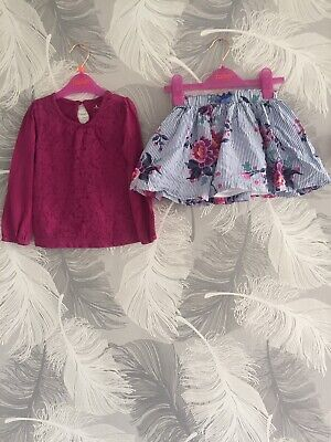 Joules 2-3 Years Girls Skirt Outfit Set Gap Floral Excellent Condition Summer