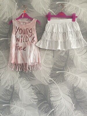 Next Outfit Young Wild And Free Girls 3-4 Years Summer Good Condition NEXT Skirt