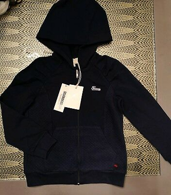 Gucci Hoodie Age 6 Girls - Navy Blue - NEW Diamond Quilted Diamante Logo - Kids