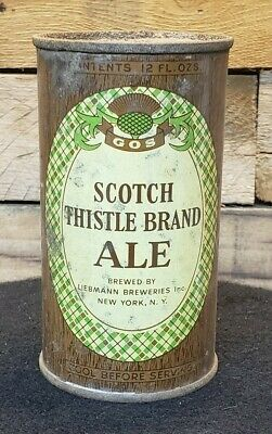 Scotch Ale 12oz Flat Top Beer Can IRTP Liebmann Breweries New York, NY Keglined