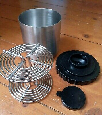 Vintage Stainless Steel 120 Film Developing Tank with Spiral - possibly Kalt VGC