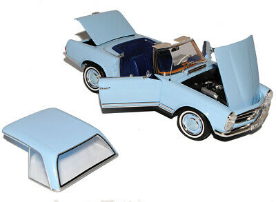 Mercedes-Benz 230SL Pagode Roadster Blau W113 mit abnehmbarem Hard Top 1963-1971