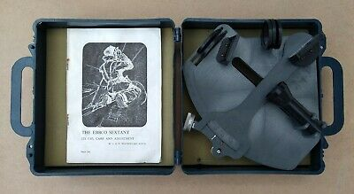 Vintage Ebbco sextant sailing navigation tool with case and instructions