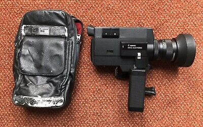 Tested CANON 814XL Electronic Super 8 Cine 8mm Vintage Movie Camera and Case