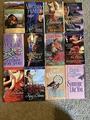 Huge Lot of 12 HISTORICAL ROMANCE NOVELS