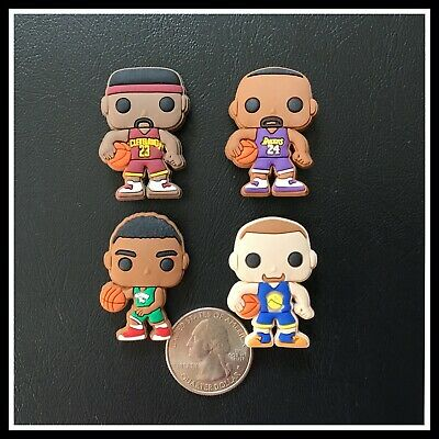 4 Shoe Charms for Crocs Pro Basketball Players Curry Barkley James Bryant