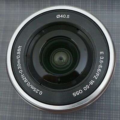 Sony SELP1650 16-50mm Power Zoom Camera Lens Silver