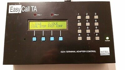 Nicral ISDN EasyCall Terminal Adapter Remote Control Adapter Interface