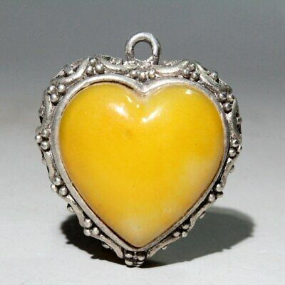 Collectable Chinese Old Miao Silver Agate Carve Delicate Beautiful Noble Pendant