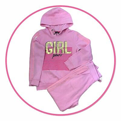GEORGE Girls Pink Joggers and Hoodie Age 8-9 Years