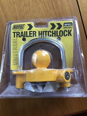 MAYPOLE Caravan Trailer Tow Ball Hitch Lock Universal 50mm Hitchlock Coupling