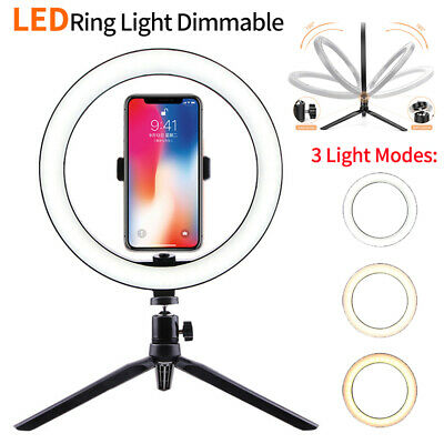 """10"""" Selfie Desk LED Ring Light with Stand Phone Holder for Youtube Vedio Makeup"""