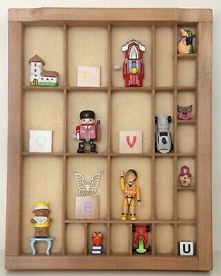 Great Cabinet for Curios in Vintage Letterpress Type Case Printers Drawer