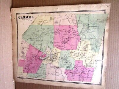 1867 Town Carmel Map Westchester County Ny  Beers Atlas