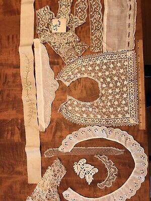 ANTIQUE VINTAGE LACE LOT Trim Crafts Embellishment