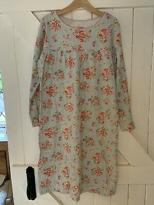 Girls Cath Kidston Long Sleeved Cotton Nightdress Size Age 9-10 Years - Pretty