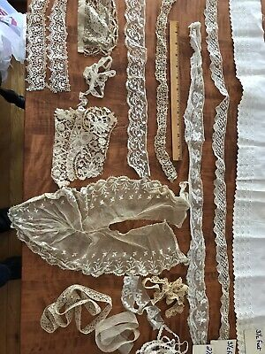 ANTIQUE VINTAGE LACE LOT Trim Embellishment