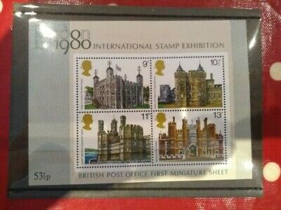 Britains First Miniature Sheet London Stamp Exhibition 1980 Mnh .See Post Offer