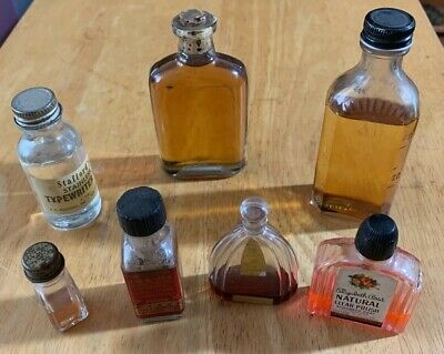 Vintage Small Glass Bottle Lot 0F 7
