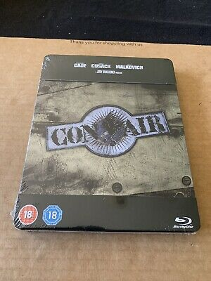 Con Air (1997) Blu Ray Steelbook Brand New & Sealed Nicolas Cage Action Rare