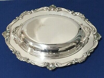Vintage Mid Century Eton Silverplated Serving Dish With Lid