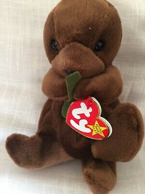 Seaweed the Otter - TY Beanie Baby. -Retired