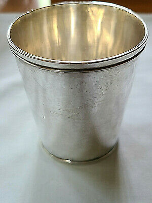 Antique Coin Silver St. Louis Mint Julep Cup F. Meade & Co.