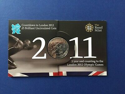 Royal Mint Countdown to London 2012, 2011 £5 Coin brilliant uncirculated