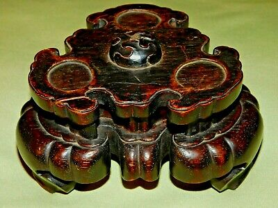 GREAT Antique JAPANESE MEIJI PERIOD 'NETSUKE DISPLAY STAND'; Beautifully Carved