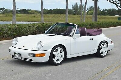 1991 Porsche 911 964 CARRERA 2 Carrera 2 Cab, Interior to sample Full leather Magenta, Supercharged, LSD, Cups