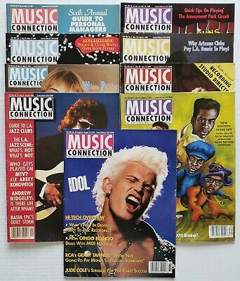 Lot of 9 1989 1990 Music Connection Magazine