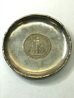 1898 BRITISH TRADE Dollar VINTAGE STERLING SILVER ASH TRAY/DISH~WITH HALLMARK