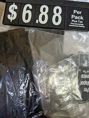 50 Brand New Black Plastic Price Signs Spiral Flip Dollar Numbers