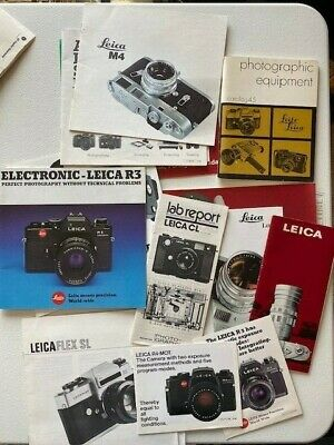 LEICA PHOTOGRAPHY  Booklets, Sale Brochures, And Catalog Lot Of 17