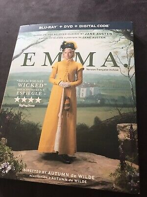 Emma Blu Ray + Dvd + Digital New And Sealed