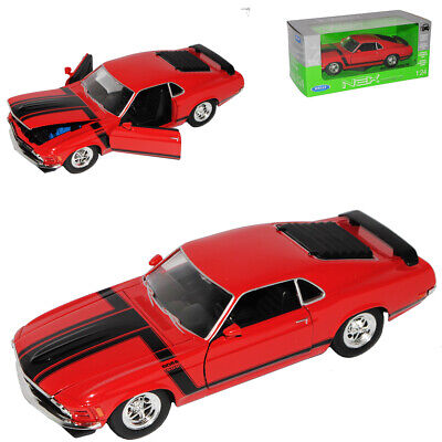 Ford MUSTANG Boss 302 Coupé I Rouge 3. Generation 1969-1970 1/24 Welly Voiture
