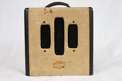 Vintage 1950 National Valco Made Tube Guitar Amplifier Chicago 51 2-Tone Small