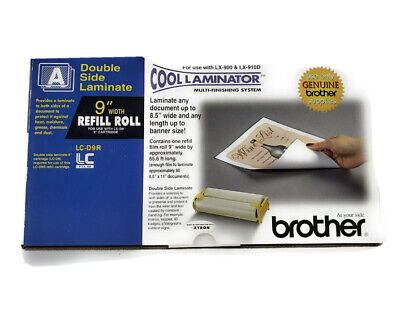 """NEW! Genuine Brother LC-D9R Cool Laminator 9"""" Refill Roll Double Sided Laminate"""