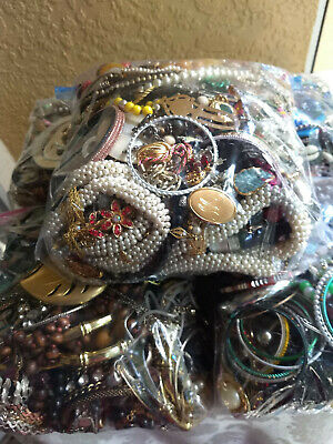 Jewelry Lot!  37.5 Lbs Vintage To Now Costume Jewelry All Wearable