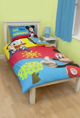 Disney Mickey Mouse Puzzled Single Panel Duvet Set Clubhouse Donald Duck
