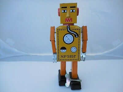 "Schylling Giant Wind-Up Lilliput Robot Tin Toy 8-3/4"" Tall"