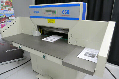 """Duplo 660 Automated 263.5"""" Paper Cutter – Triumph Challenge Martin Yale"""