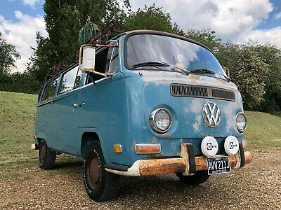 1971 Volkswagen Micro bus Camper Patina VW Classic LHD Early Bay Syncro doka