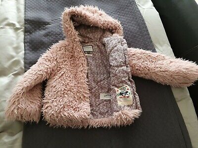 Girls fluffy jacket Fatface Age 6 years