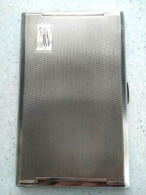 Stunning Antique **228 grams** Solid Sterling Silver Cigarette Case Very Heavy