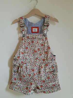 Mini Boden Liberty style 4-5 Years Girls Floral short dungarees
